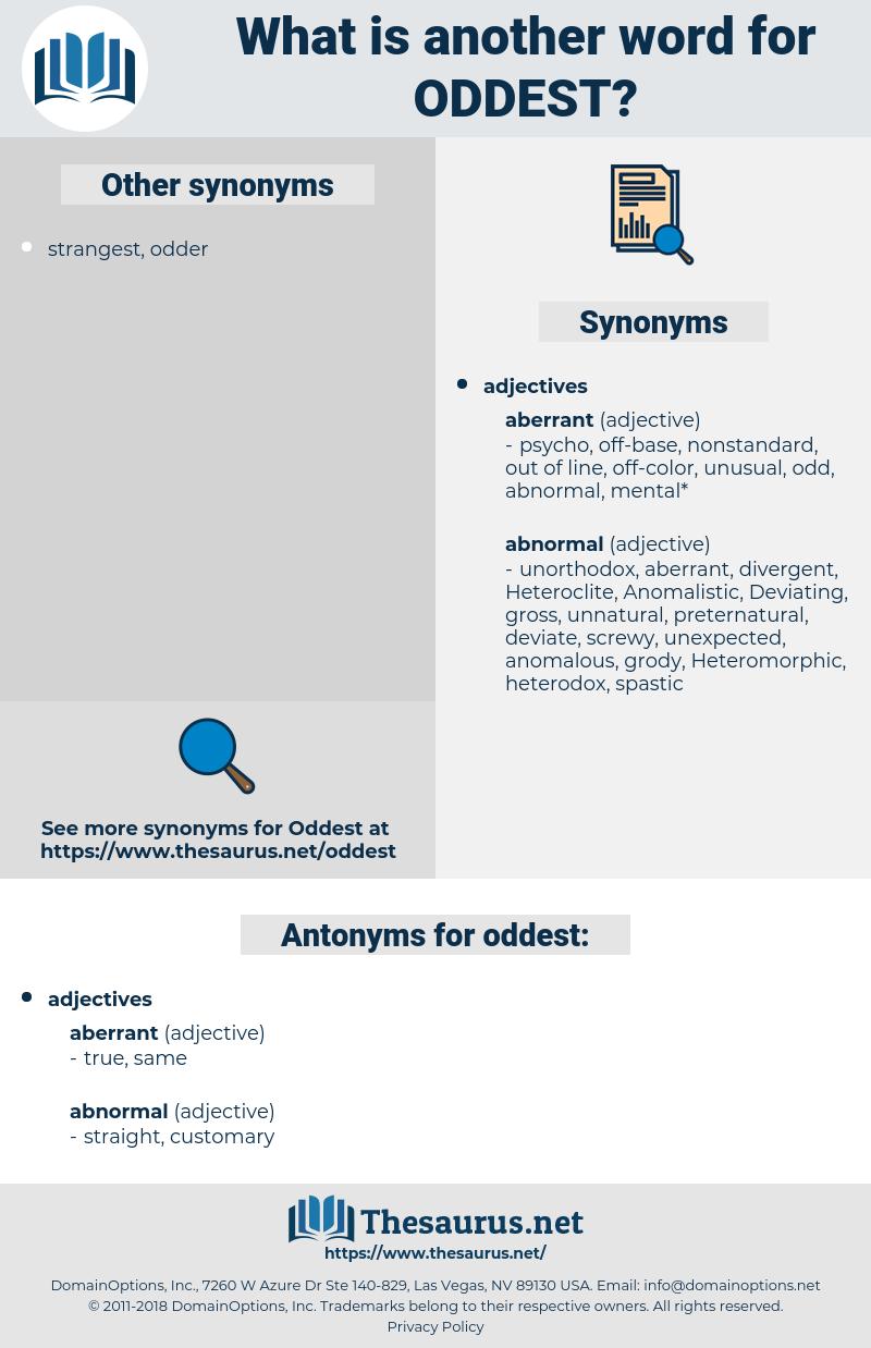 oddest, synonym oddest, another word for oddest, words like oddest, thesaurus oddest