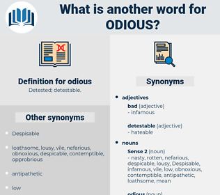 odious, synonym odious, another word for odious, words like odious, thesaurus odious