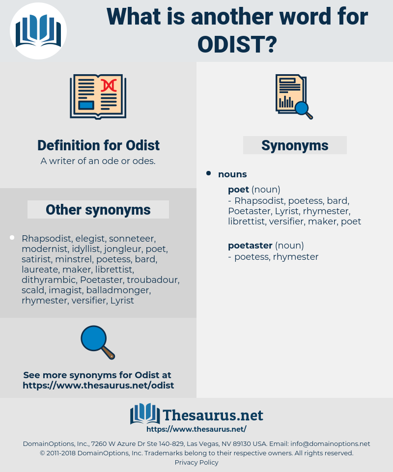 Odist, synonym Odist, another word for Odist, words like Odist, thesaurus Odist