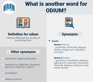 odium, synonym odium, another word for odium, words like odium, thesaurus odium