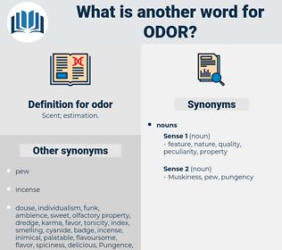 odor, synonym odor, another word for odor, words like odor, thesaurus odor