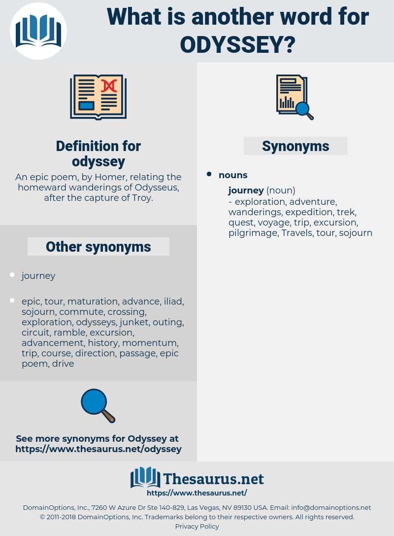 synonyms for odyssey - thesaurus