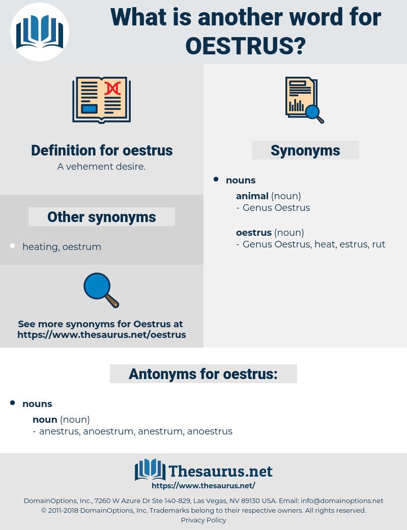 oestrus, synonym oestrus, another word for oestrus, words like oestrus, thesaurus oestrus