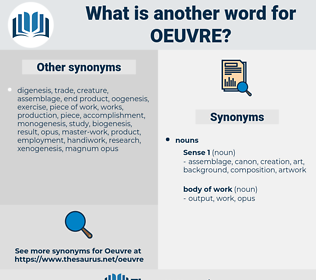 oeuvre, synonym oeuvre, another word for oeuvre, words like oeuvre, thesaurus oeuvre