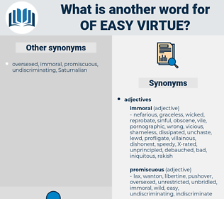 of easy virtue, synonym of easy virtue, another word for of easy virtue, words like of easy virtue, thesaurus of easy virtue