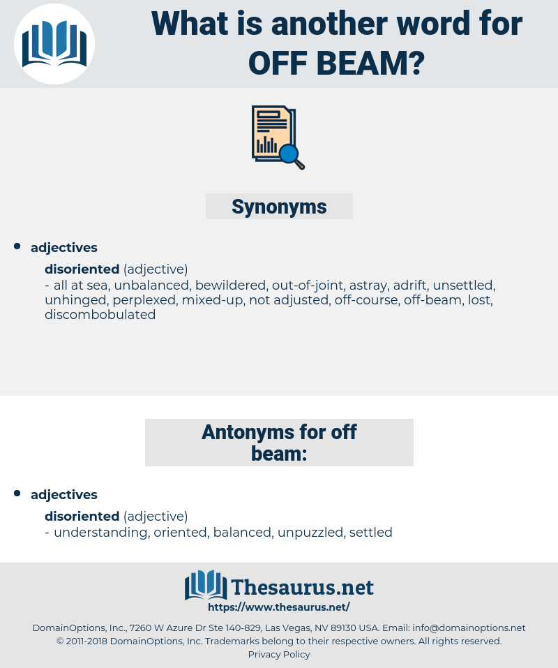 off-beam, synonym off-beam, another word for off-beam, words like off-beam, thesaurus off-beam