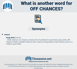 off-chances, synonym off-chances, another word for off-chances, words like off-chances, thesaurus off-chances