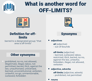 off-limits, synonym off-limits, another word for off-limits, words like off-limits, thesaurus off-limits