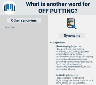 off-putting, synonym off-putting, another word for off-putting, words like off-putting, thesaurus off-putting