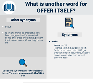 offer itself, synonym offer itself, another word for offer itself, words like offer itself, thesaurus offer itself