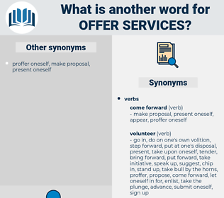 offer services, synonym offer services, another word for offer services, words like offer services, thesaurus offer services