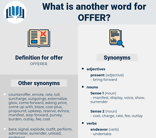 offer, synonym offer, another word for offer, words like offer, thesaurus offer