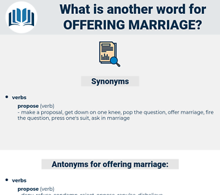 offering marriage, synonym offering marriage, another word for offering marriage, words like offering marriage, thesaurus offering marriage