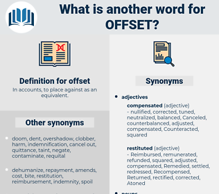 offset, synonym offset, another word for offset, words like offset, thesaurus offset