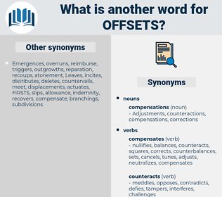 offsets, synonym offsets, another word for offsets, words like offsets, thesaurus offsets