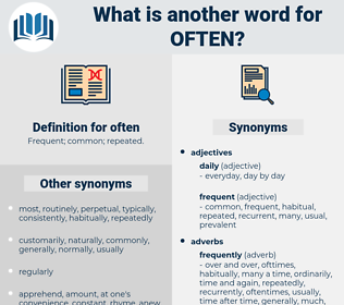often, synonym often, another word for often, words like often, thesaurus often