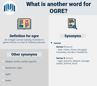 ogre, synonym ogre, another word for ogre, words like ogre, thesaurus ogre