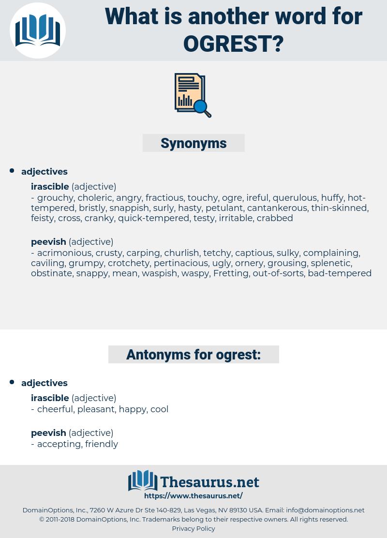 ogrest, synonym ogrest, another word for ogrest, words like ogrest, thesaurus ogrest