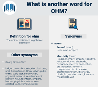 ohm, synonym ohm, another word for ohm, words like ohm, thesaurus ohm