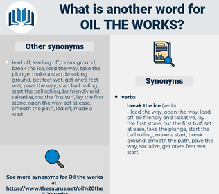 oil the works, synonym oil the works, another word for oil the works, words like oil the works, thesaurus oil the works