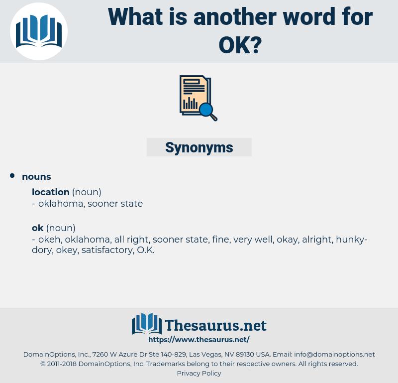 ok, synonym ok, another word for ok, words like ok, thesaurus ok