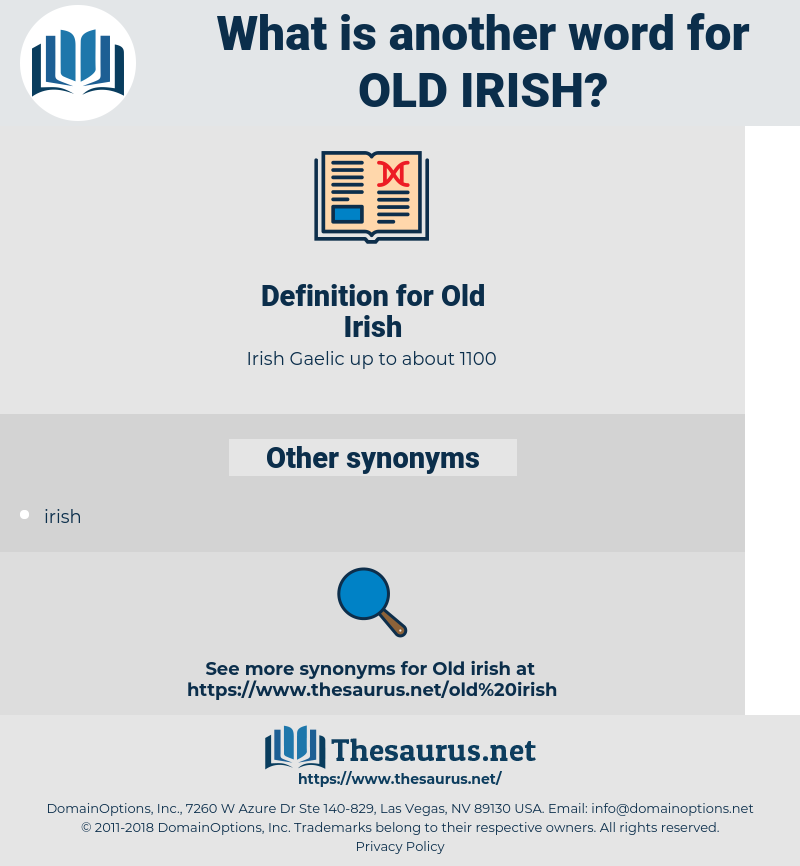 Old Irish, synonym Old Irish, another word for Old Irish, words like Old Irish, thesaurus Old Irish