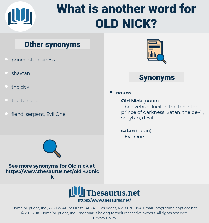 old nick, synonym old nick, another word for old nick, words like old nick, thesaurus old nick