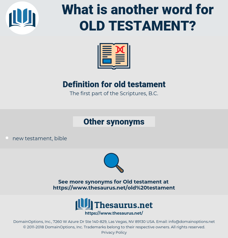 old testament, synonym old testament, another word for old testament, words like old testament, thesaurus old testament