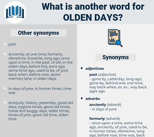 olden days, synonym olden days, another word for olden days, words like olden days, thesaurus olden days
