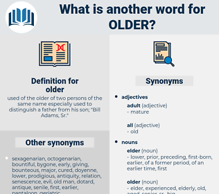 older, synonym older, another word for older, words like older, thesaurus older