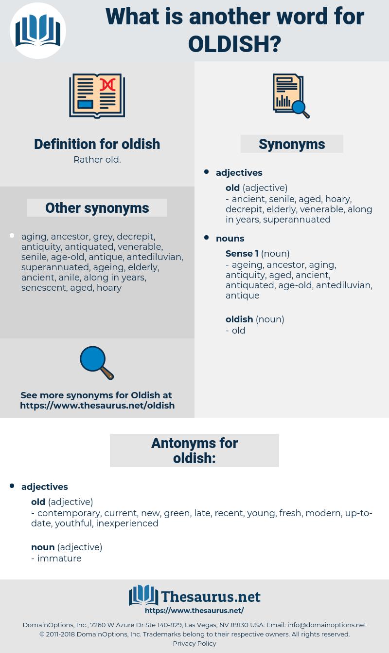 oldish, synonym oldish, another word for oldish, words like oldish, thesaurus oldish
