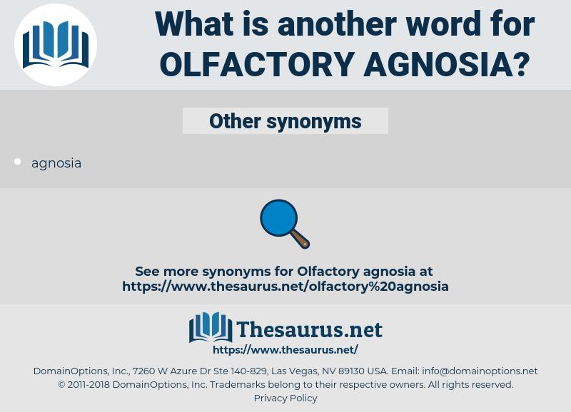 Olfactory Agnosia, synonym Olfactory Agnosia, another word for Olfactory Agnosia, words like Olfactory Agnosia, thesaurus Olfactory Agnosia