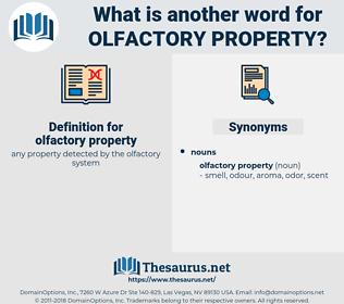 olfactory property, synonym olfactory property, another word for olfactory property, words like olfactory property, thesaurus olfactory property