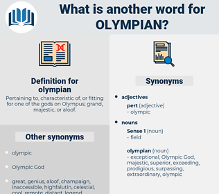 olympian, synonym olympian, another word for olympian, words like olympian, thesaurus olympian