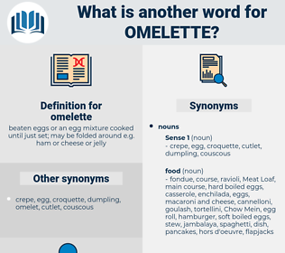 omelette, synonym omelette, another word for omelette, words like omelette, thesaurus omelette