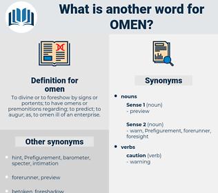 omen, synonym omen, another word for omen, words like omen, thesaurus omen