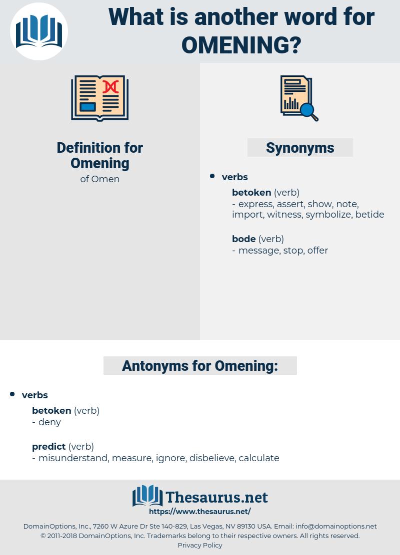 Omening, synonym Omening, another word for Omening, words like Omening, thesaurus Omening