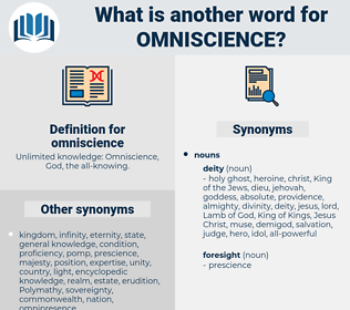 omniscience, synonym omniscience, another word for omniscience, words like omniscience, thesaurus omniscience