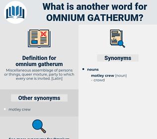 omnium-gatherum, synonym omnium-gatherum, another word for omnium-gatherum, words like omnium-gatherum, thesaurus omnium-gatherum