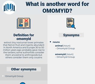 omomyid, synonym omomyid, another word for omomyid, words like omomyid, thesaurus omomyid
