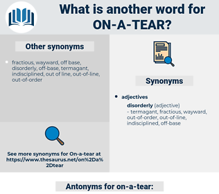 on a tear, synonym on a tear, another word for on a tear, words like on a tear, thesaurus on a tear