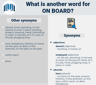 on board, synonym on board, another word for on board, words like on board, thesaurus on board