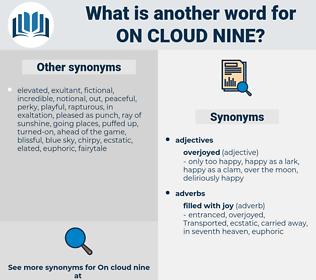 on cloud nine, synonym on cloud nine, another word for on cloud nine, words like on cloud nine, thesaurus on cloud nine