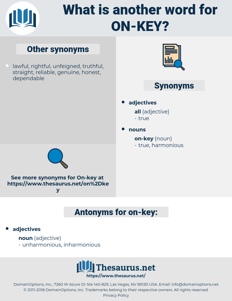 on-key, synonym on-key, another word for on-key, words like on-key, thesaurus on-key