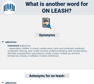 on leash, synonym on leash, another word for on leash, words like on leash, thesaurus on leash