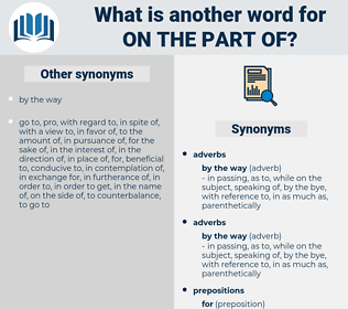 on the part of, synonym on the part of, another word for on the part of, words like on the part of, thesaurus on the part of