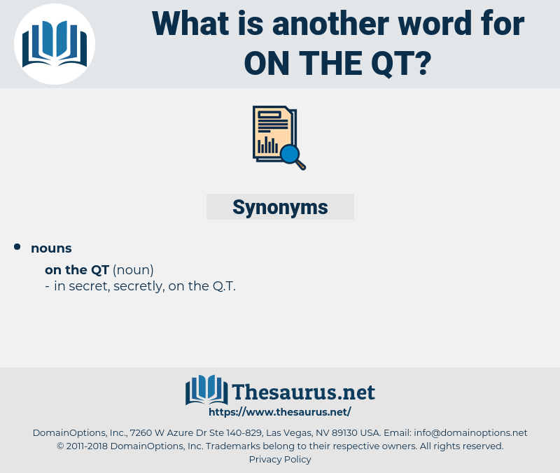 on the qt, synonym on the qt, another word for on the qt, words like on the qt, thesaurus on the qt