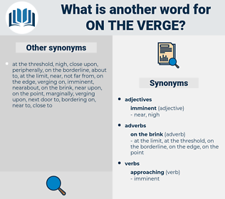 on the verge, synonym on the verge, another word for on the verge, words like on the verge, thesaurus on the verge
