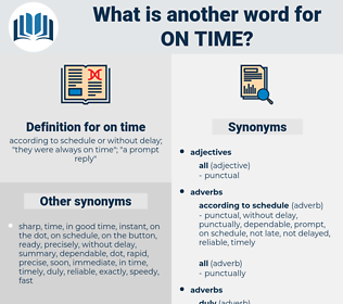 on time, synonym on time, another word for on time, words like on time, thesaurus on time