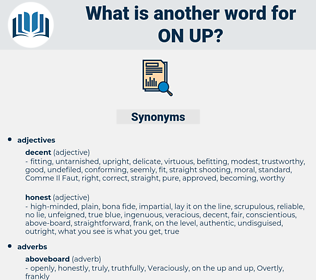on up, synonym on up, another word for on up, words like on up, thesaurus on up